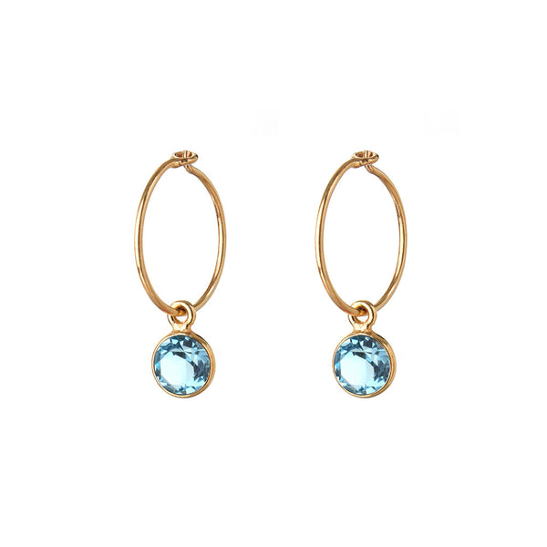 HOOP EARRINGS - small hoop - small TOPAZ - SMALL HOOP