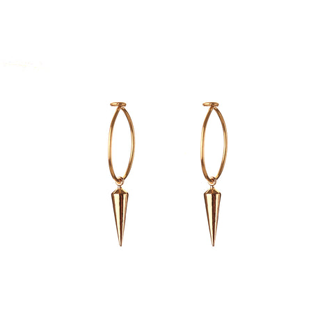 HOOP EARRINGS - small hoop - mini spike