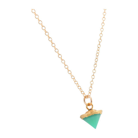 amazonite cone necklace