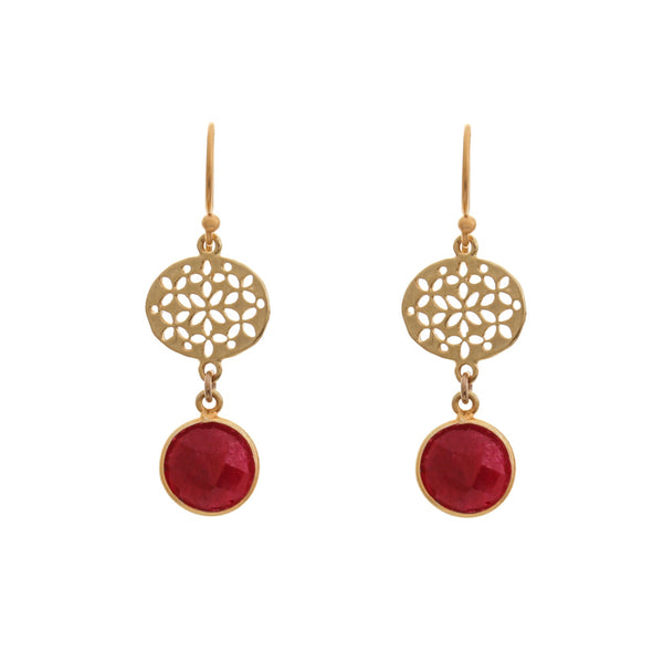 BOHO EARRINGS - Raspberry