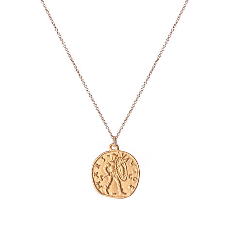 serena coin NECKLACE - GOLD, plain - large