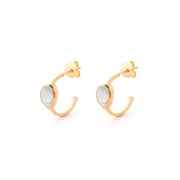 clara HOOP EARRINGS - moonstone