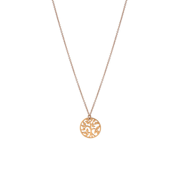 family TREE NECKLACE - GOLD, plain