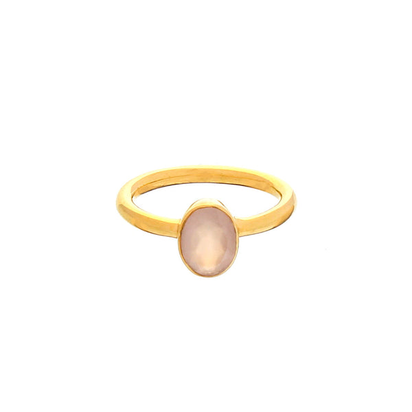 RING - OVAL STACKING, ROSE