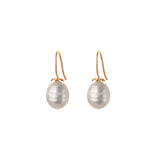 zara pearl simple drops - white