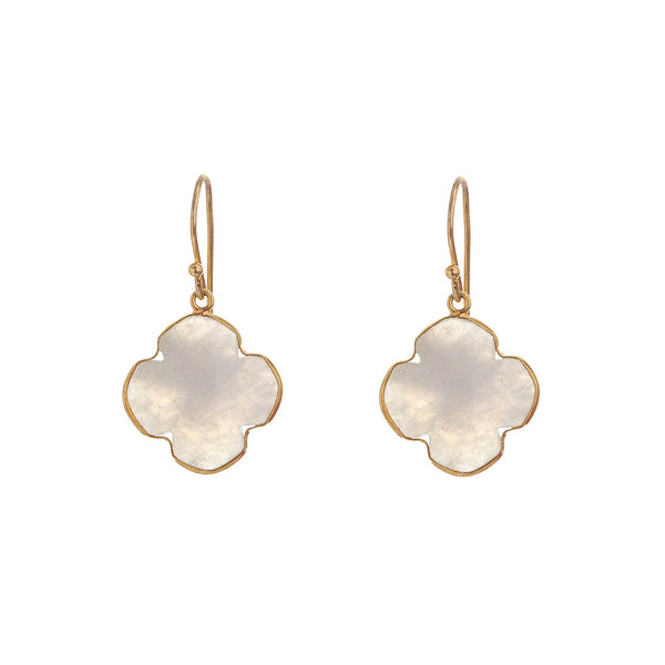 QUATREFOIL | CLOVER MOONSTONE EARRINGS