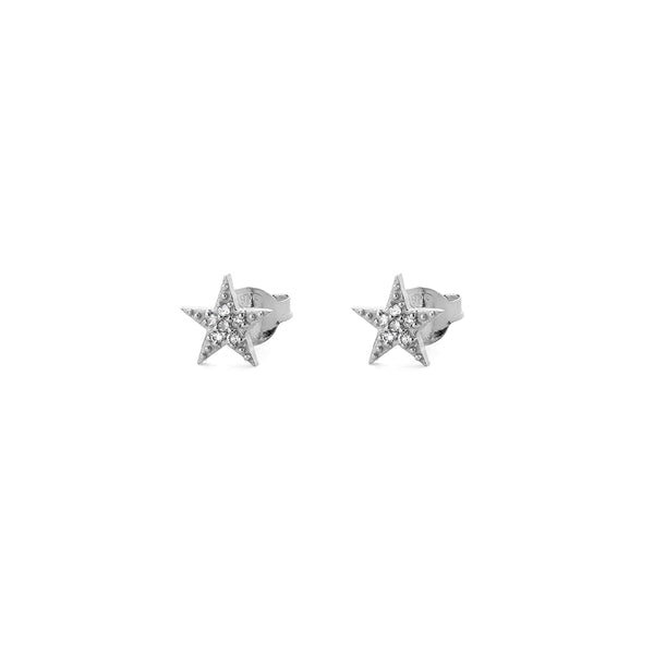 harper diamante star studs / EARRINGS, small star, gold