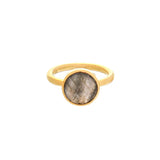 ROUND RING - LABRADORITE - THE SASKIA