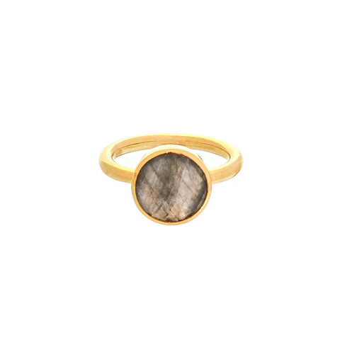 round ring, the Saskia, labradorite