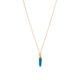 Esta turquoise spike NECKLACE