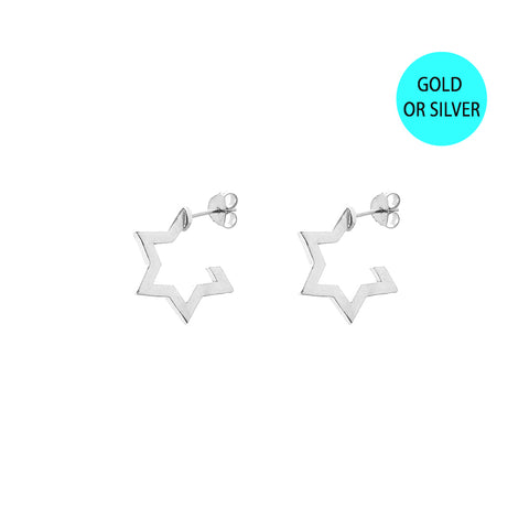 HOOP EARRINGS | wider | star