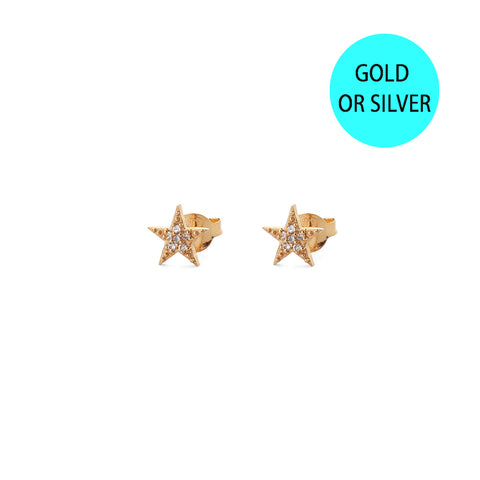 marina diamante star studs / EARRINGS