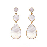 TRIPLE DROP EARRINGS - moonstone