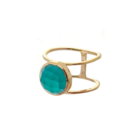Tyra stacking ring - emerald green