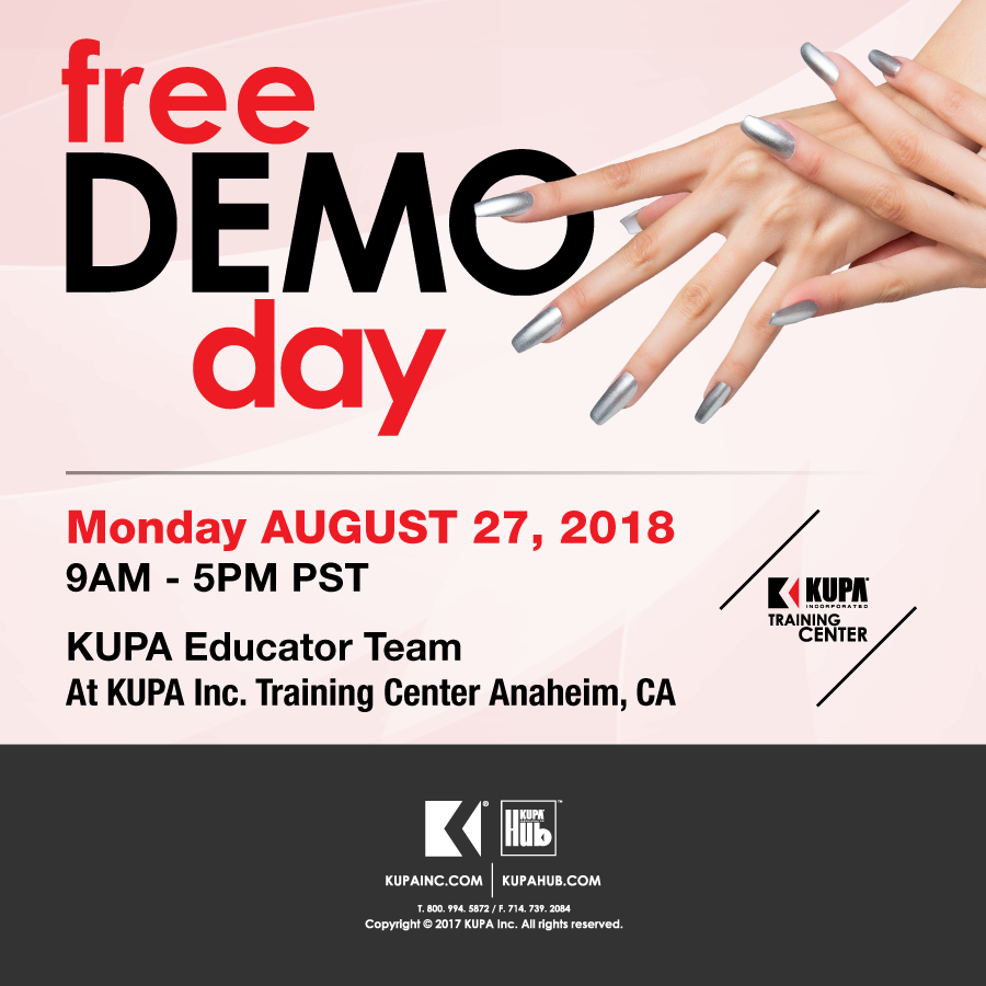 Come learn Nails LIVE Free nail demo August 27th, 2018