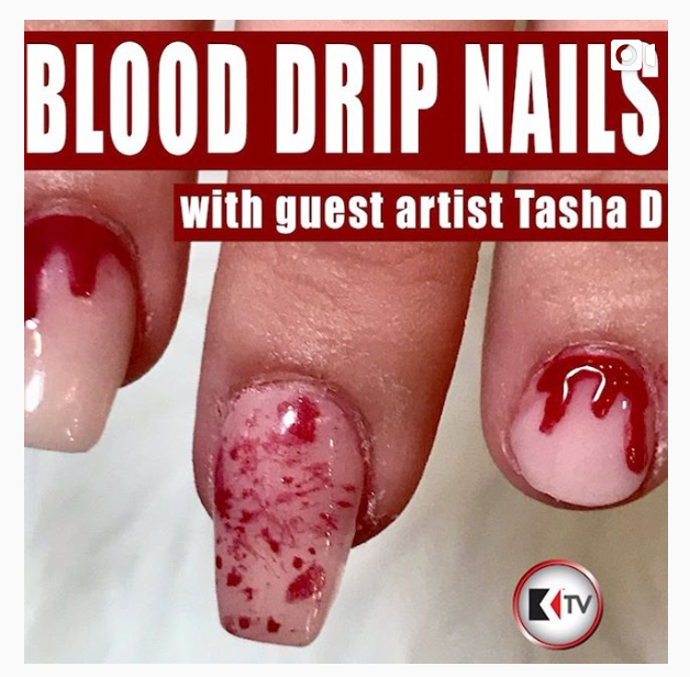 Blood Drip Nail Demo