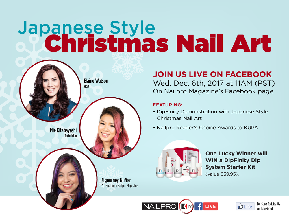 Facebook Live KUPA TV Nail Demo and Giveaways Wednesday's 11am PST