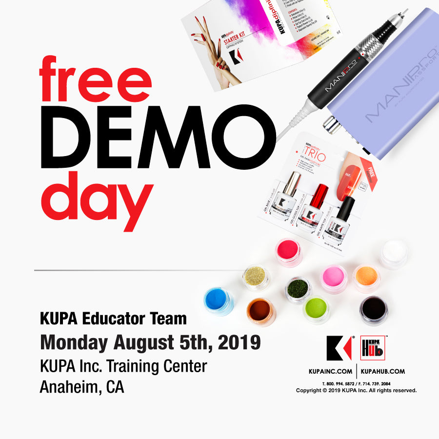 Free Nail Demo August 5th, 2019 at KUPA