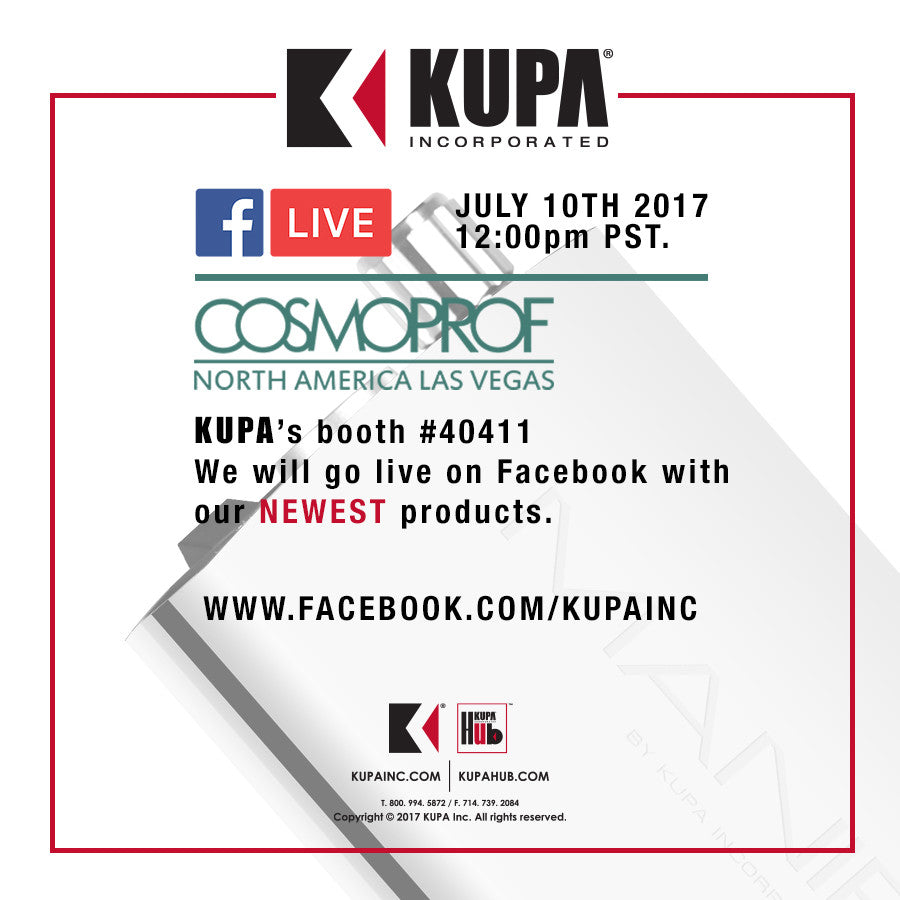 Facebook LIVE From Cosmoprof Monday July 10th, 2017 12PM PST