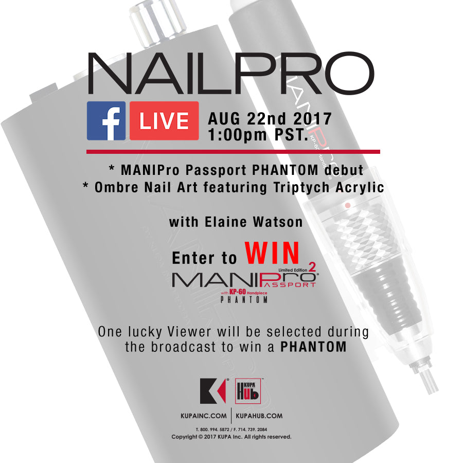 Tune into Facebook for LIVE session with NAILPRO Magazine 8-22-2017