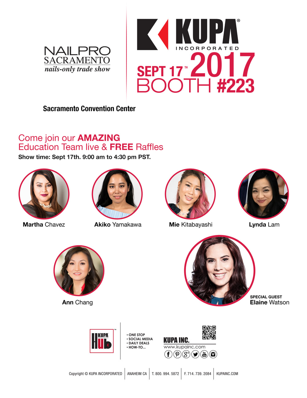 NAILPRO Sacramento 2017 with Team KUPA Inc