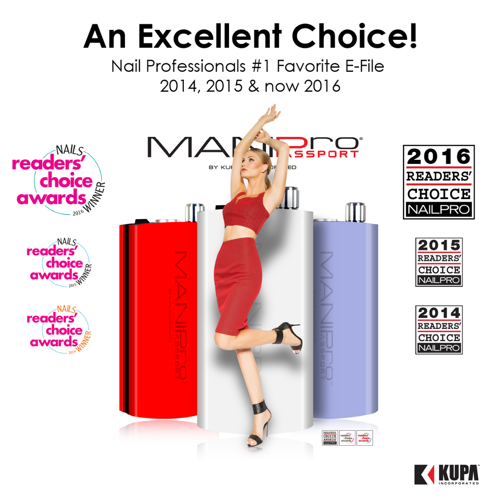 MANIPro Passport Nail Professionals Favorite E-file 3rd Year in a Row!! WOW!!