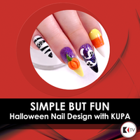 Simple But Fun Halloween Nail Design with KUPA