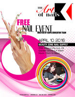 Kupa Inc Nail Show at Beauty Zone Supply (Sunday April 10th, 2016) FREE Live Demos