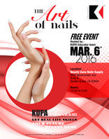 Reminder!  Join Kupa Inc at the Kupa Nail Show @ Beauty Zone Supply *FREE Live Demos *Raffles - Sunday March 6th, 2016