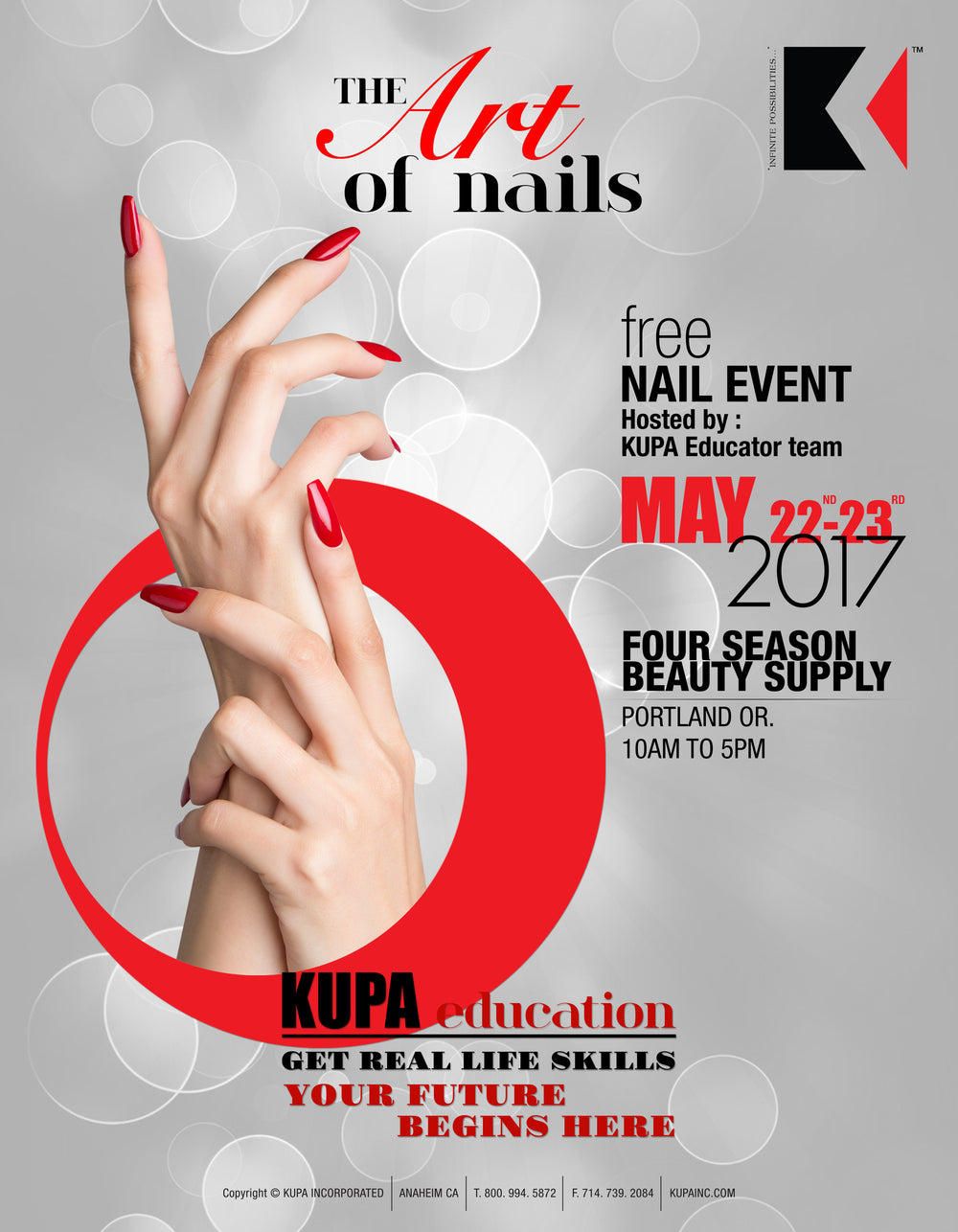 FREE Nail Demos Monday May 22nd & Tuesday May 23rd, 2017 - Portland, Oregon