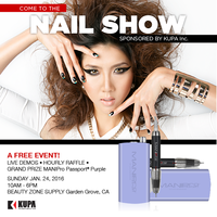 REMINDER: KUPA Inc Nail Show at Beauty Zone (SUNDAY January 24th, 2016) FREE Event!