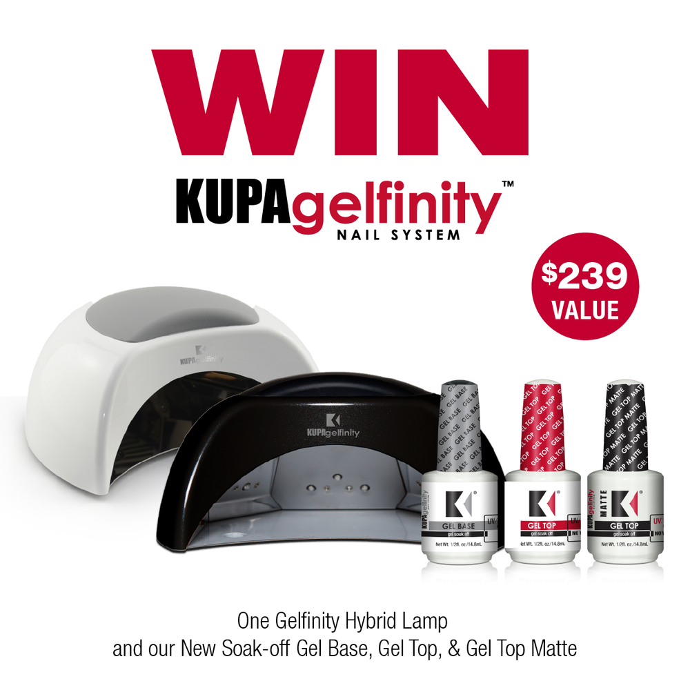 Enter to WIN a GelFinity Hybrid Uv/LED Lamp with the New Gel-polish Base and Top Coat