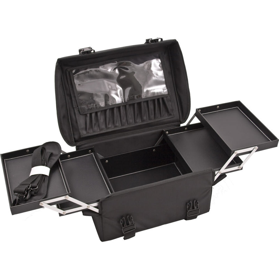 Black Nylon Trolley Rolling Professional Nail Case