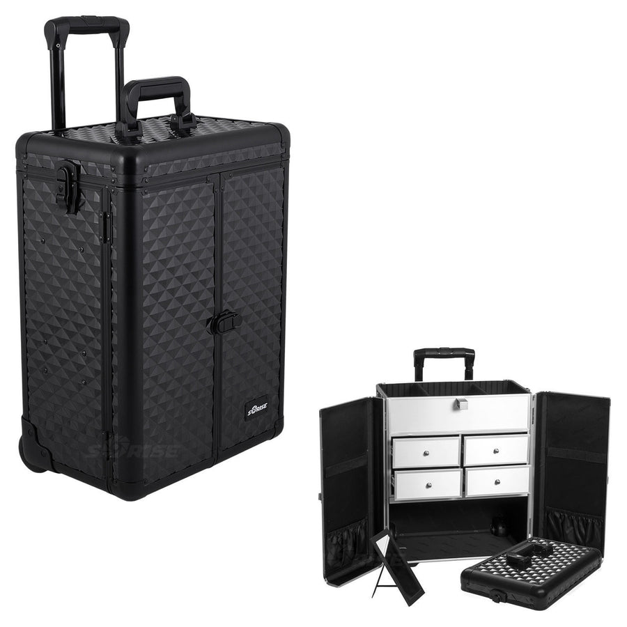 Black Diamond Rolling Professional Nail Case