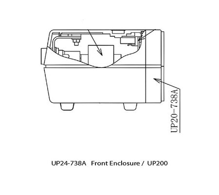 UP20-738A Front Enclosure UP200