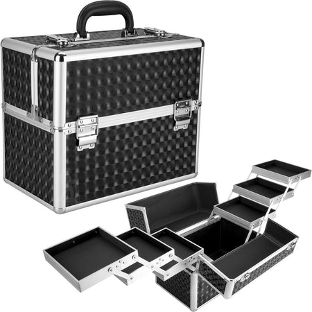 Black 3D Diamond Professional Nail Case