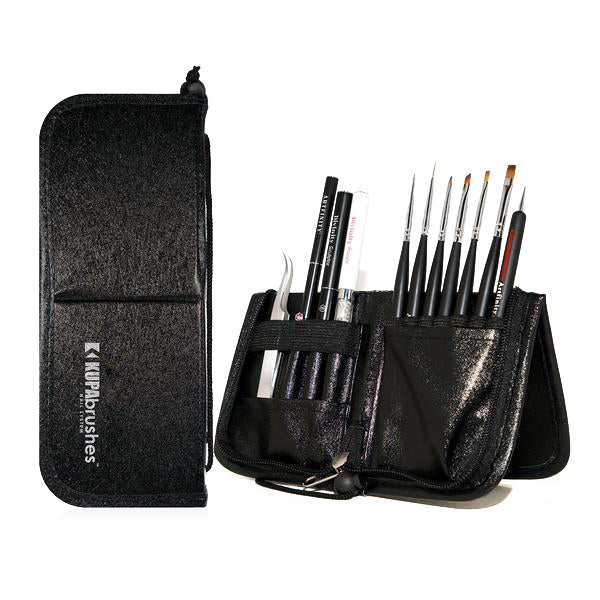 Brushes set w/case - BLACK