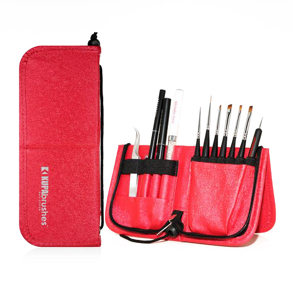 Brushes set w/case - RED