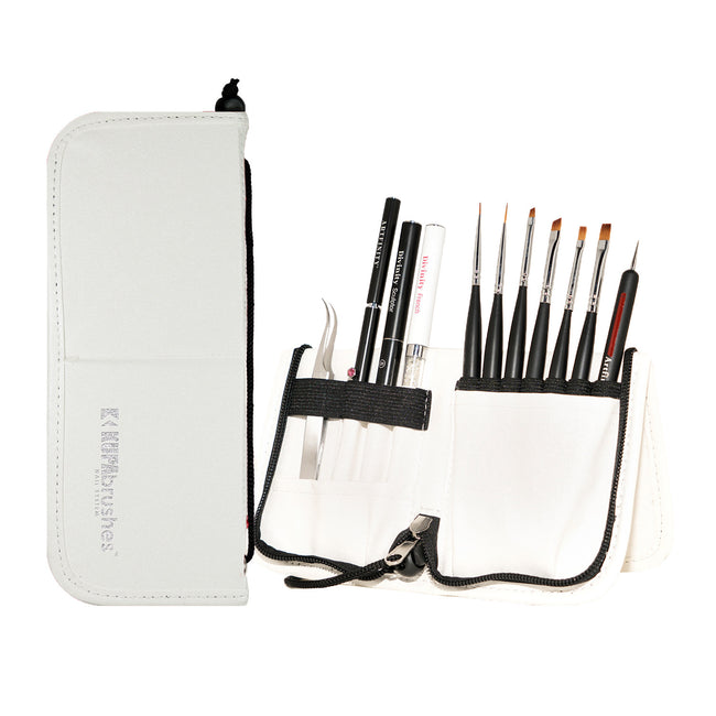 Brushes set w/case - WHITE