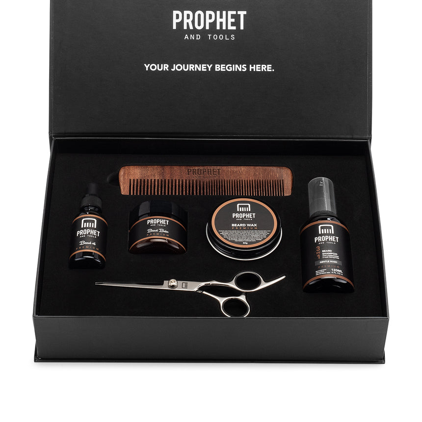 6 Products Beard Grooming Essentials Kit