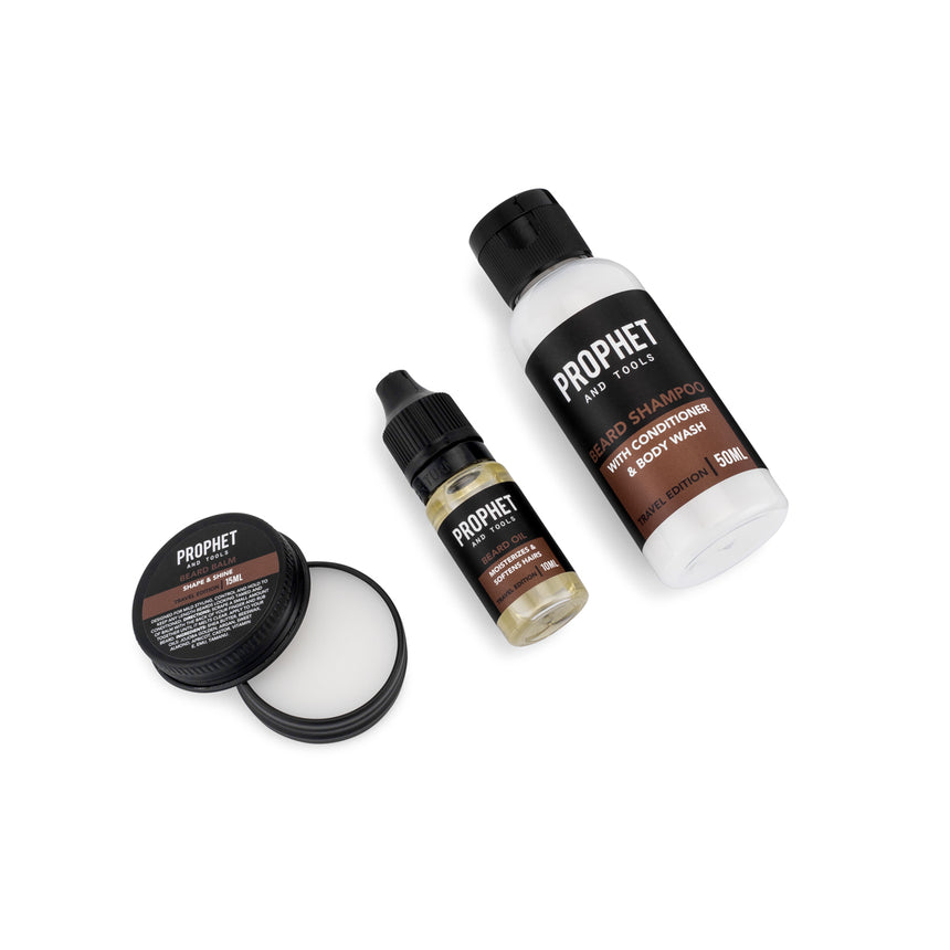 6 Products Travel Beard Grooming Kit