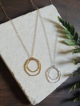 Load image into Gallery viewer, Double Circle Necklace