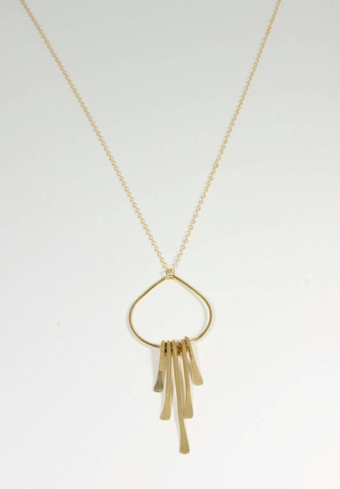 Long Drop Fringe Necklace