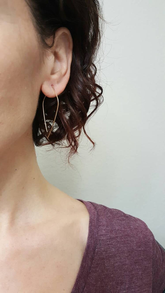 Large Petal Pull through Earrings