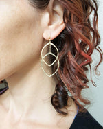 Double Petal Hoop Earrings