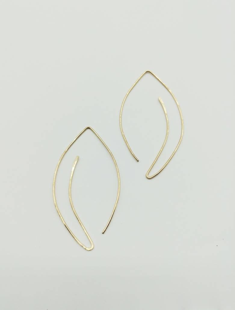 Pull Through Leaf Earrings