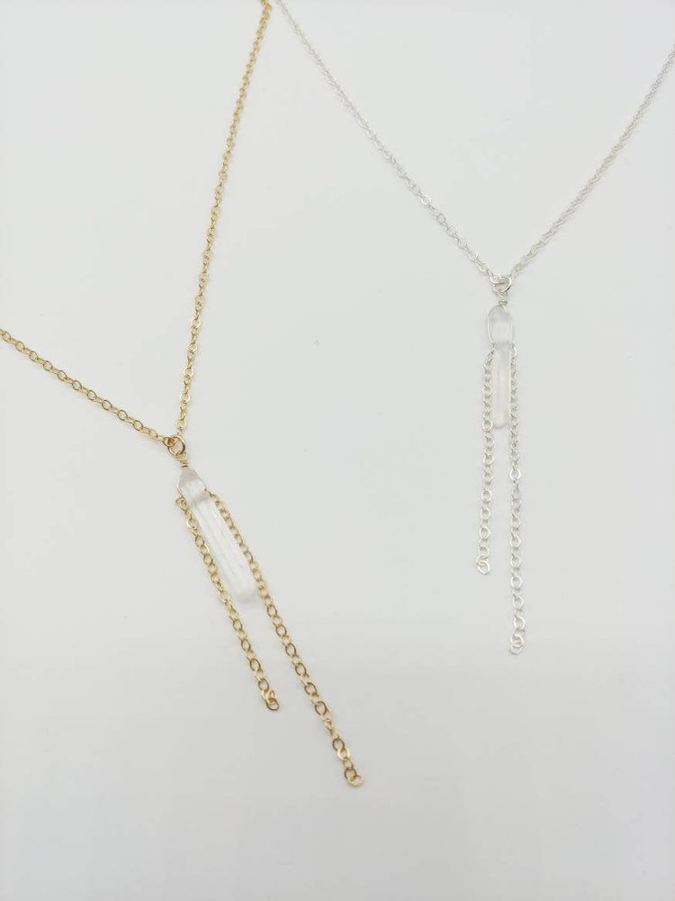 Simple Quartz Y Necklace