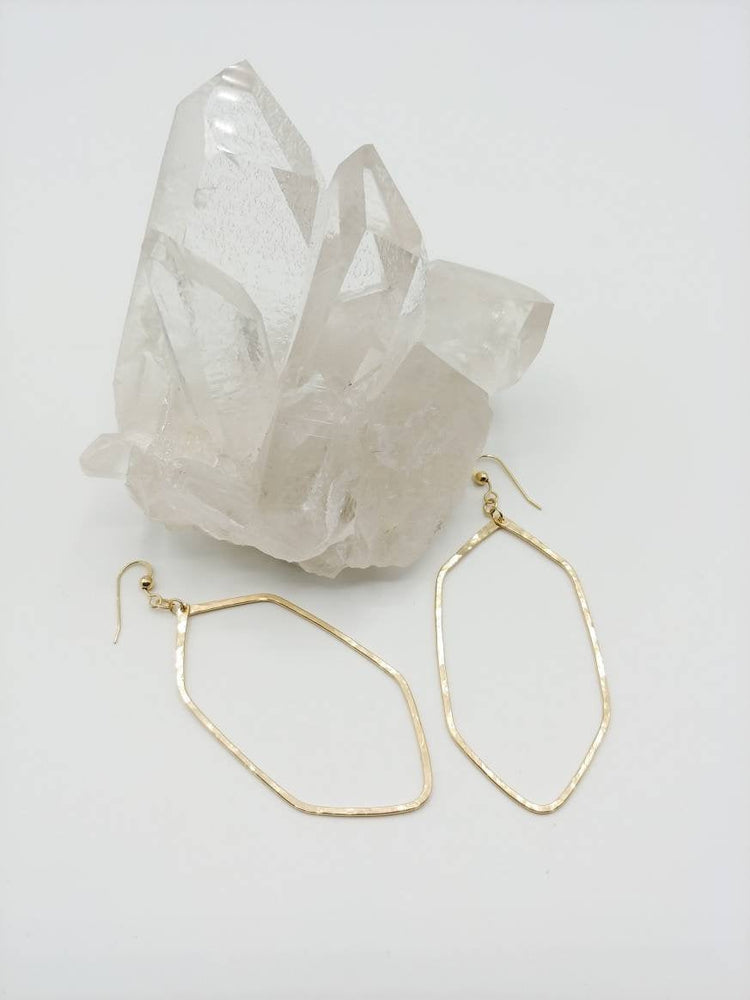 Large Geometric Hoop Earrings