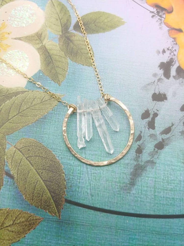Quartz Circle Necklace