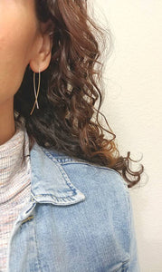 Oval Pull Through Threader Earrings